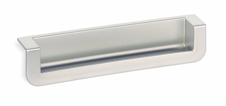 schwinn 2518 recessed edge pull matte chrome shelving hardware