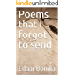 Poems that I forgot to send