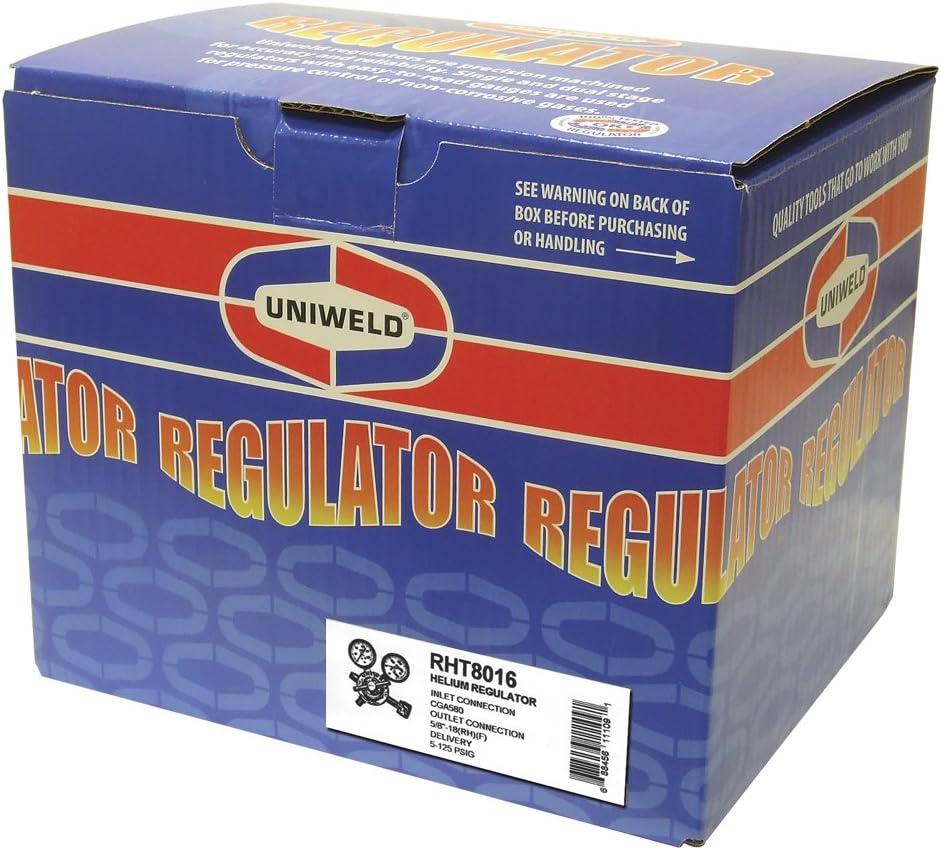 Uniweld RHT8016 Medium//Heavy Duty Two Stage Helium Regulator with CGA580 Inlet