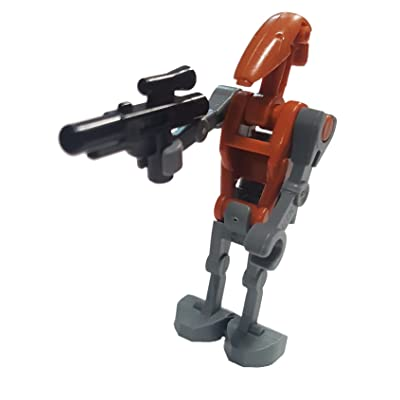 Lego Star Wars Minifigure: Rocket Battle Droid with Jetpack and Blaster: Toys & Games
