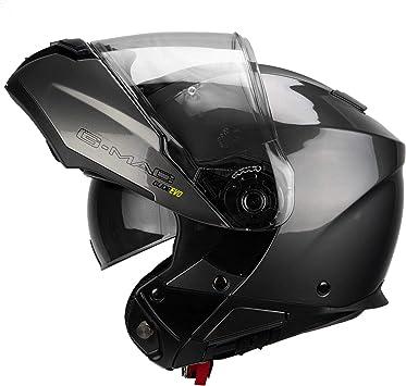 G-Mac Glide Evo Flip Front Motorcycle Helmet Gloss Black