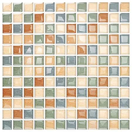 Yipscazo Peel and Stick Backsplash Tile for Kitchen, Anti-Mold Wall Tile in Org Maple 10 Sheets 10 x10