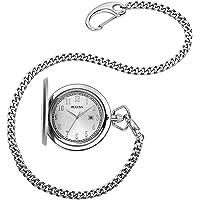 Bulova 96B270 - Reloj de bolsillo analógico de cuarzo para hombre (acero inoxidable)