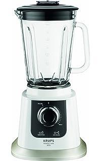 Krups KB 5031 Batidora de vaso Negro, Acero inoxidable, Transparente, Color blanco 1.5