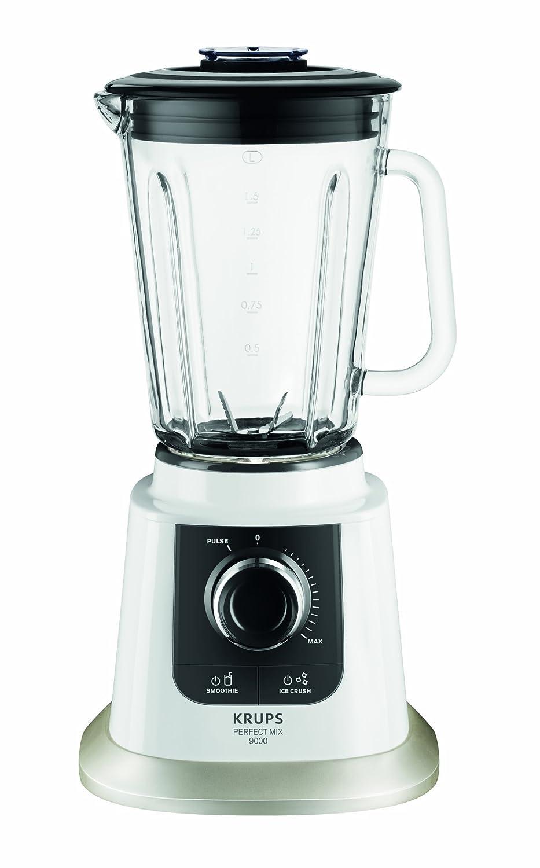 Krups KB 5031 Batidora de vaso Negro, Acero inoxidable, Transparente, Color blanco 1.5L 850W - Licuadora (Vidrio, Acero inoxidable) KB5031