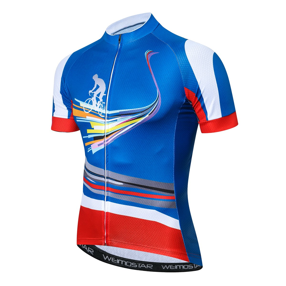 Cycling Jersey Riding Men Bike Bicycle Shirt Top Outdoor Sportswear with 3 Rear Pocket