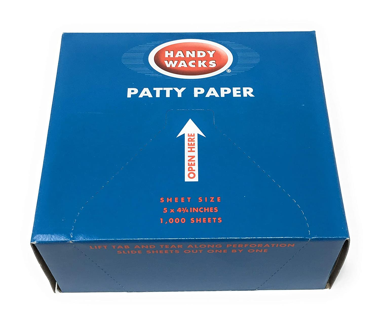 Handy Wacks P-50-X, 5x4-3/4-Inch Hamburger Patty Papers, Disposable Meat Butcher Paper Sheets, 1000-Piece Pack