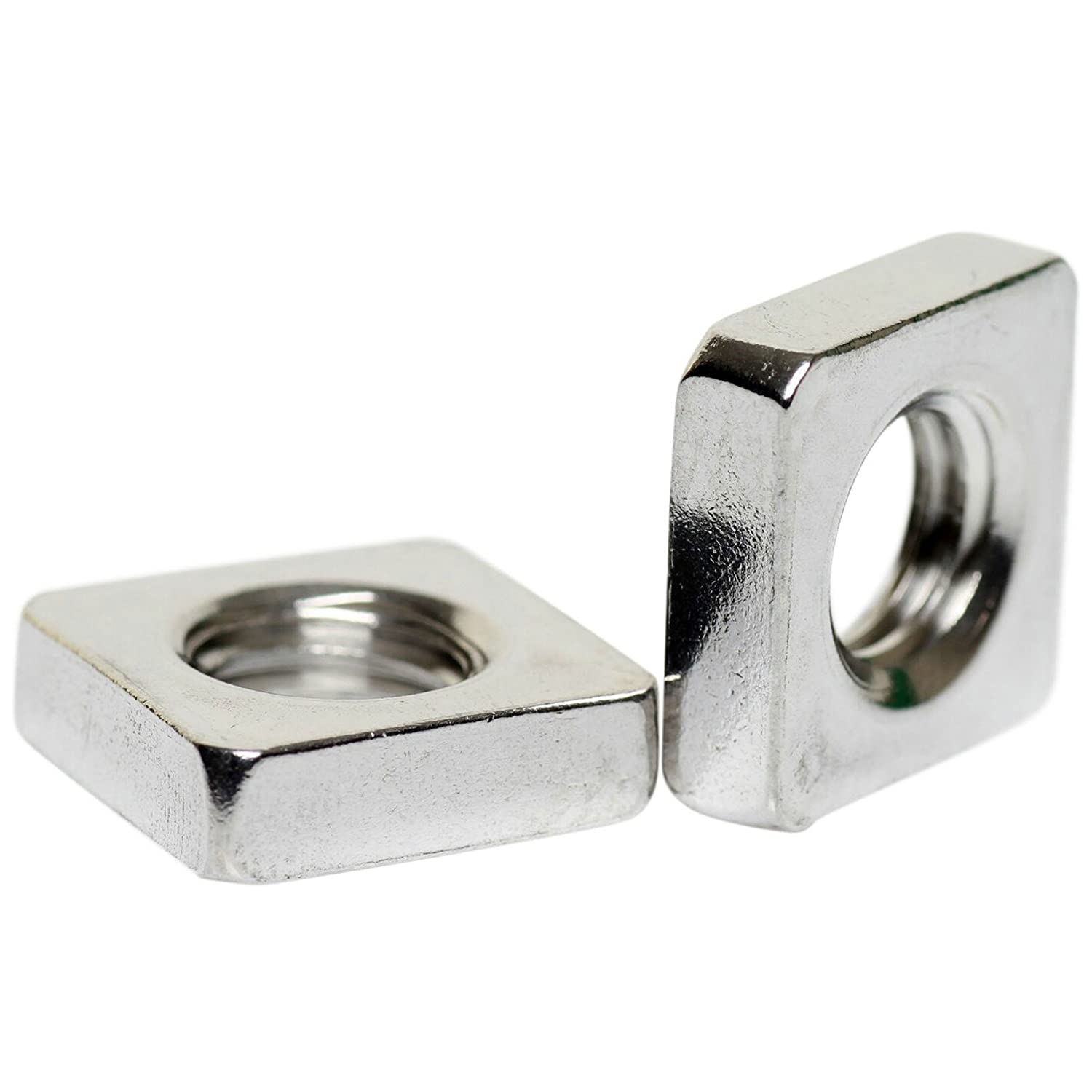 A2 Stainless Steel Square Nuts Thin Type DIN 562 M10 - 5 Pack Bolt Base