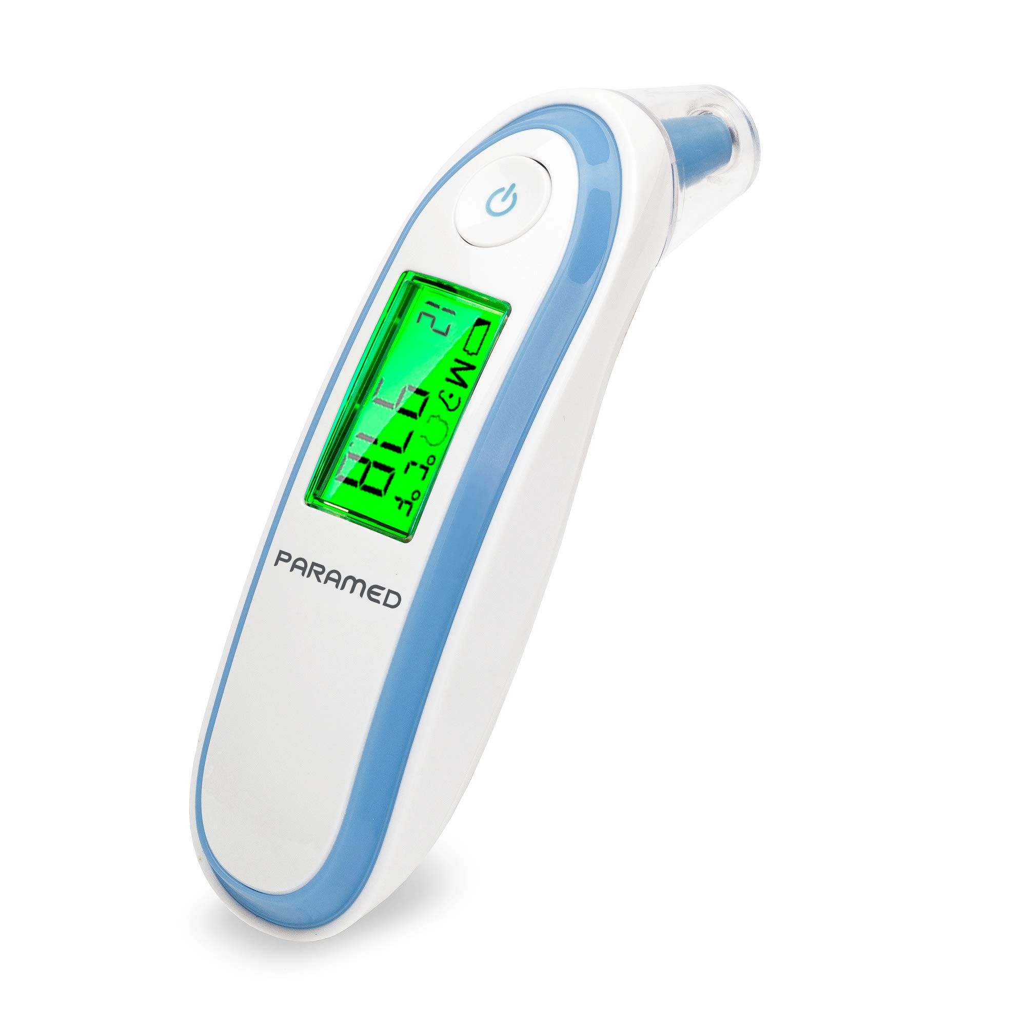 Digital Forehead and Ear Thermometer by Paramed - Instant Scan Dual Function Baby Infrared Medical Thermometer