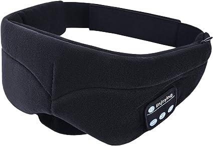 Sleep Wireless Bluetooth Eye Mask Travel Handsfree Built-in Speakers Microphone
