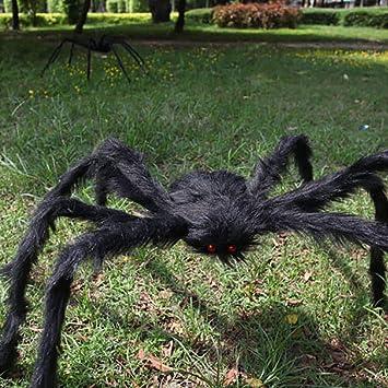 2019 Halloween Spider Decor Haunted House Prop Indoor Outdoor Black Giant Scary