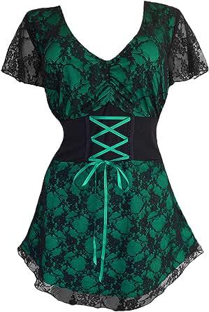 Dare to Wear Victorian Gothic Boho Women's Plus Size Sweetheart Corset Top