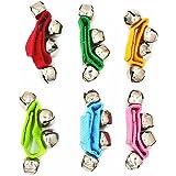 Band Wrist Bells Foot Rattles Ankle Bells Ring Toy Bracelet Pack of 6