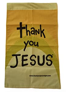 Memory Cross Thank You Jesus Christian Outdoor Garden Flag
