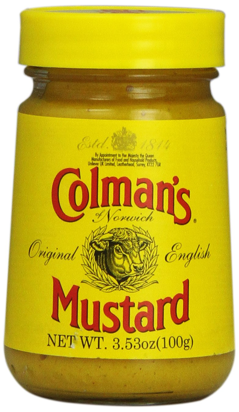 Colman's Mustard, 3.5-Ounce Glass Jar, Pack of 8