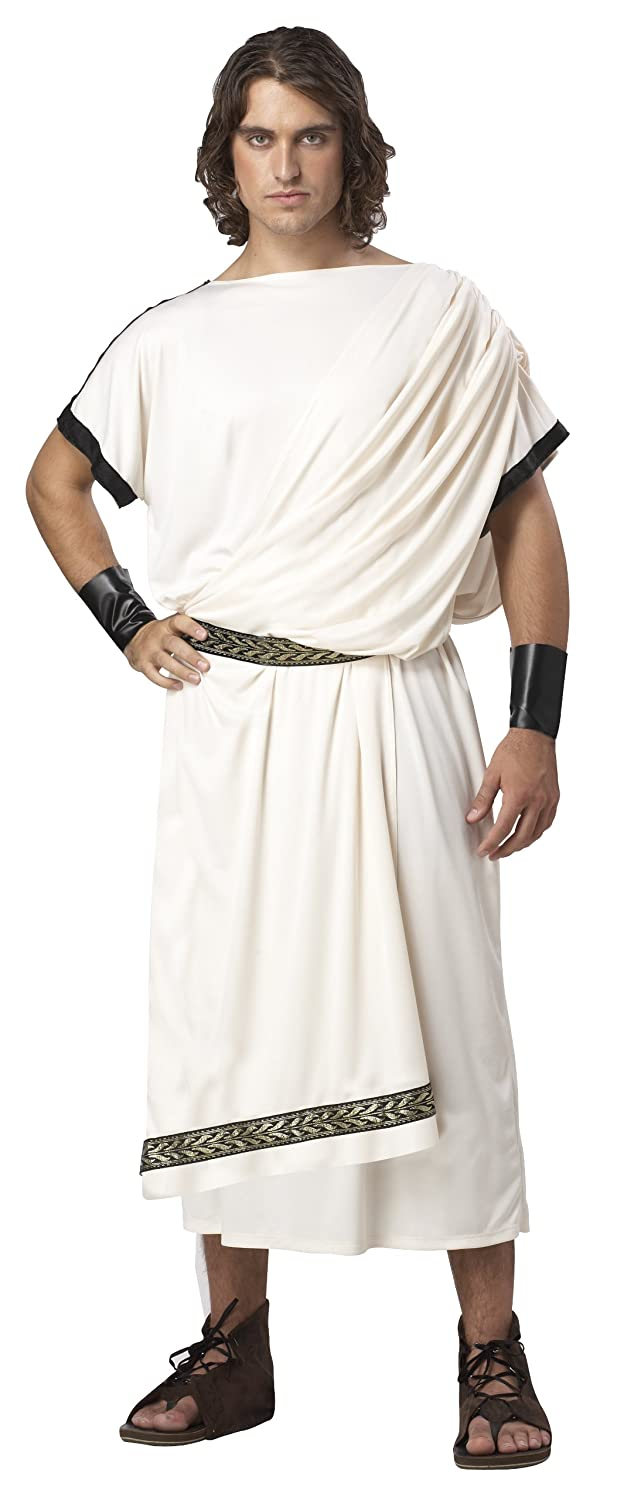 California Costumes Men's Deluxe Classic Toga Set Cream One Size 1126