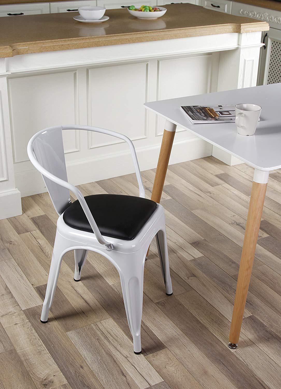 GIA MC45K-ANTIBK/_2 High Back Metal Chair Antique Black Pack