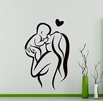 Amazon.com: Mother and Baby Wall Vinyl Decal Mother Love ...