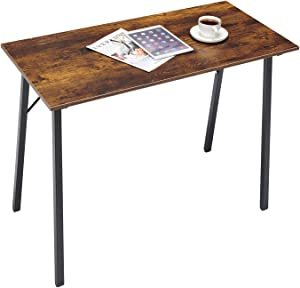 Writing Computer Desk Modern Simple Study Table Kids Desk Small Industrial Home Office Wood Work Desk with Metal Leg