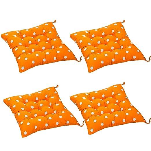 AGDLLYD 4 cómodos Cojines Cuadrados para Silla (Lunares ...