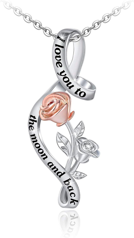 Distance S925 Reservation Sterling Silver Flower Necklace Easy-to-use Bracele Rose