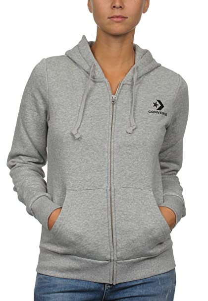 b72d8368ed95 Converse Women s Star Chevron Embroidered Zip Hoodie  Amazon.co.uk ...