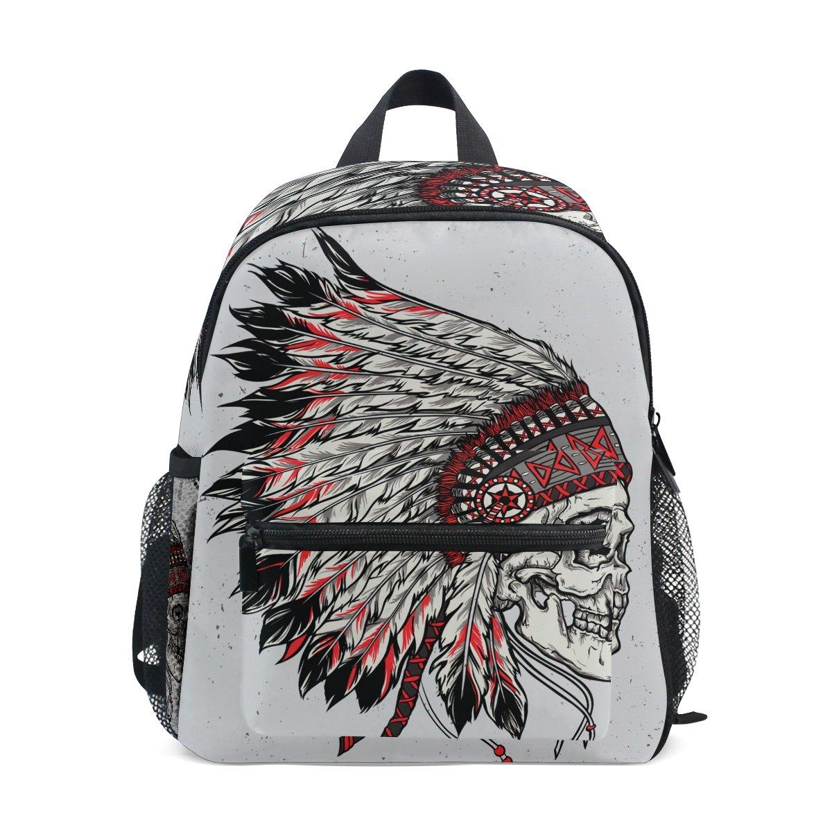 Age 3-8 Native American Indian Art Prints Toddler Preschool Backpack, Children Kids Travel Rucksack Lunch Bags for Boy Girl