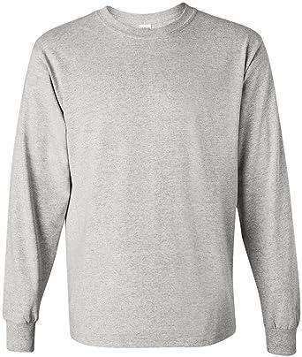 4716193425c7 Amazon.com: Gildan Men's Ultra Cotton Long Sleeve T Shirt: Clothing