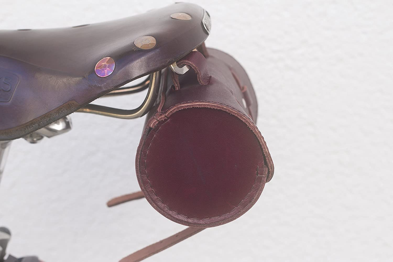 London Craftwork Classic Saddle//Handlebar Roll Bag Real Leather WINE BROWN For Bike Tools ROL-CHER