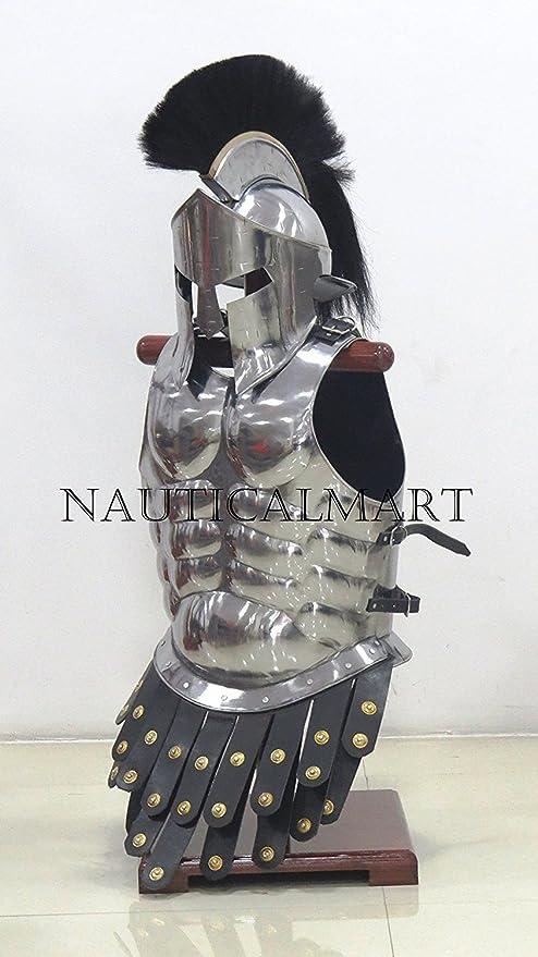 300 King espartano romano casco w/muscular chaqueta Guerra Armor ...