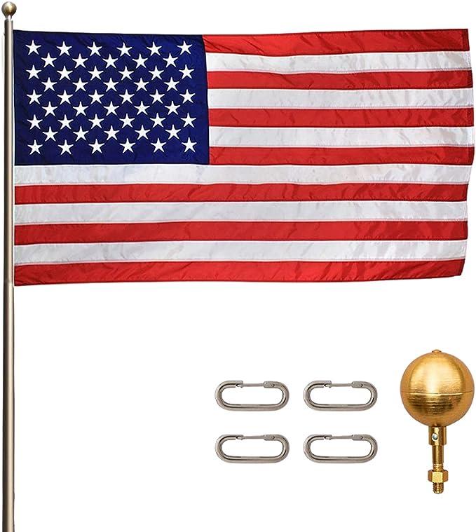 Titan Telescoping Flag Poles, 25ft Light Bronze