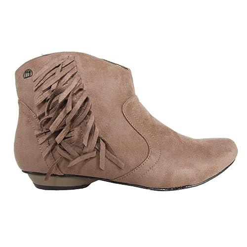 MTNG Botines de Mujer 54900 Ante W12 Taupe Talla 38: Amazon.es: Zapatos y complementos