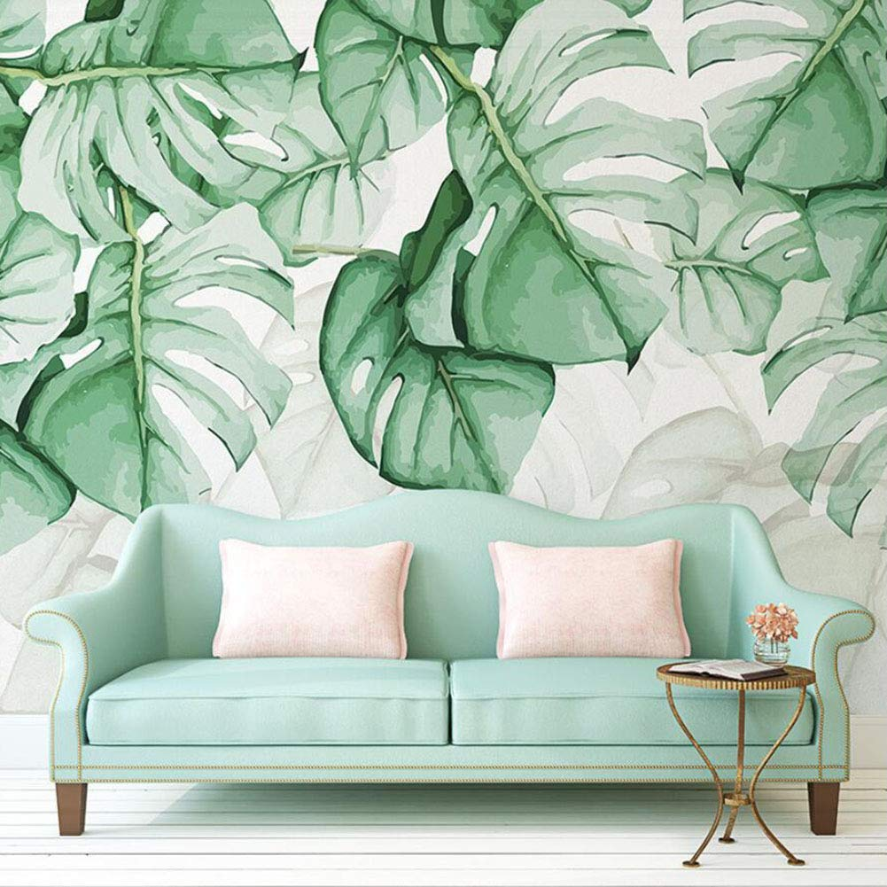 Non Woven Wallpaper Tropical Leaves Wall Decoration Poster Wall Paintings Ornament Nature Green Buy Online In Papua New Guinea At Papua Desertcart Com Productid 147164057 Watercolor painting of green tropical leaves. non woven wallpaper tropical leaves
