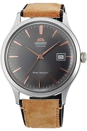 Orient Reloj Analógico para Hombre de Automático con Correa en Cuero FAC08003A0: Amazon.es: Relojes
