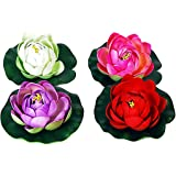 Orchard EVA Floating Lotus Flower - Set of 4(10x10x4cm, Multicolour)