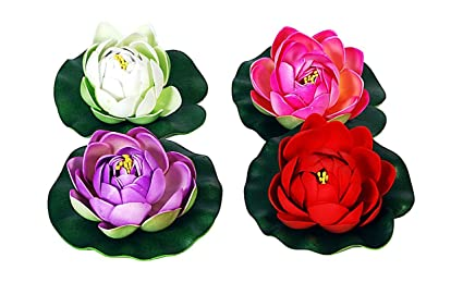 Buy orchard floating lotus flower red white pink and violet set orchard floating lotus flower red white pink and violet set of 4 mightylinksfo