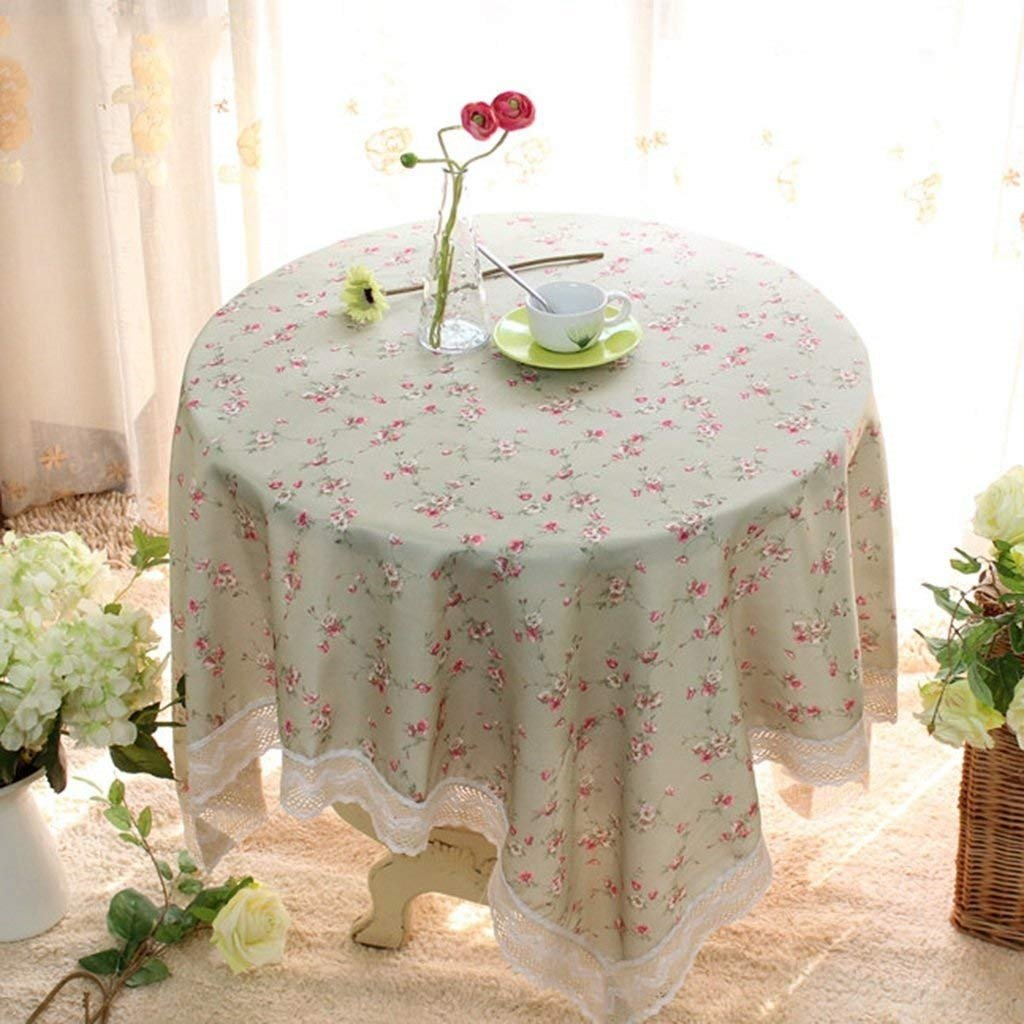 家の装飾布カバー テーブルクロステーブルクロスラウンドテーブルクロスラウンドテーブルクロスコーヒーテーブルクロス布クロス テーブルクロス (色 : 180*180cm, サイズ : A) A 180*180cm B07R22LDL8