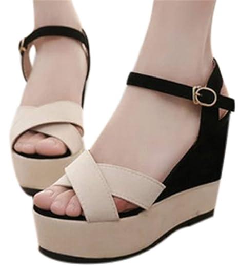 60fb2c5d88735 Amazon.com: Gyouanime Women High Heel Wedge Platform Sandals ...
