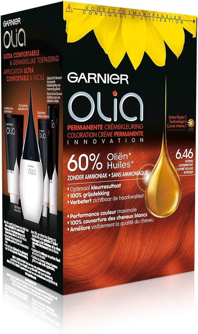 Garnier Coloración Olia permanente – 6.46 cobre rojo Intense ...