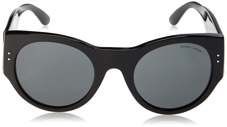 Ralph Lauren Damen Sonnenbrille RL8124, Schwarz (Black 500187), One size (Herstellergröße: 52)