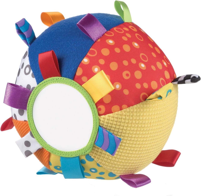 Playgro 0180271 - Pelota de tela con texturas, espejo, etiquetas y ...