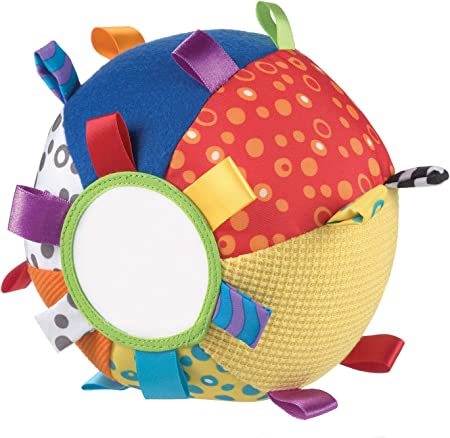 Oferta amazon: Playgro Mi Primera Pelota de Peluche, Juguete de Actividades, Desde los 3 Meses, Loopy Loops, Multicolor, 40079
