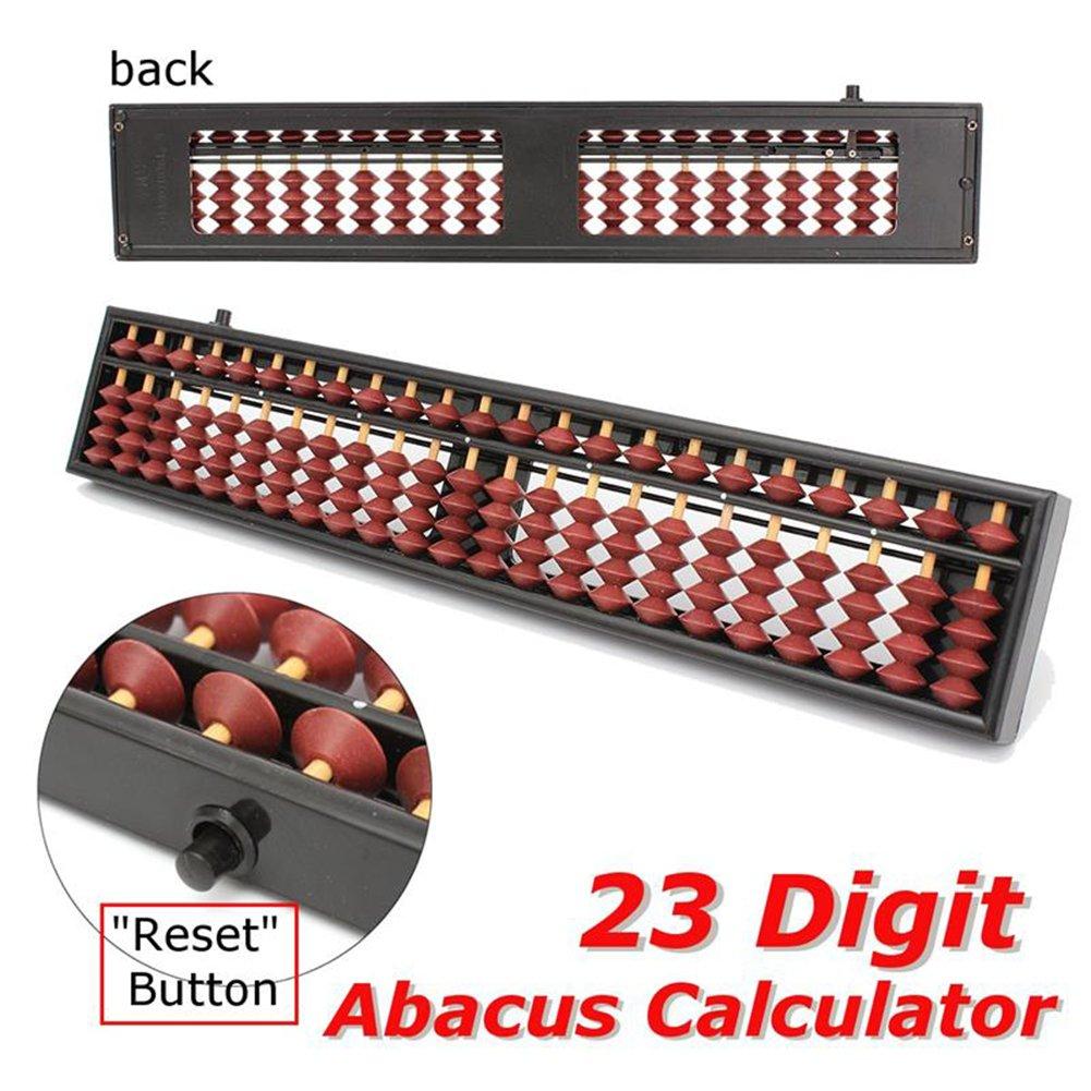 Yiwa R/éveils /éducatifs 23 Chiffres en Plastique Abacus Arithm/étique Soroban Enfants Maths Outil De Calcul Jouets /Éducatifs pour Enfants