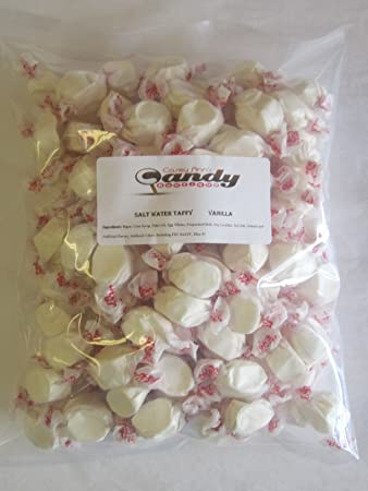 Vanilla Flavored Taffy Town Salt Water Taffy 2 Pounds
