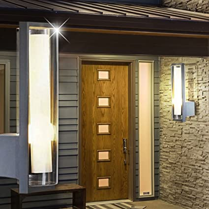Garageneinfahrt beleuchtung  Design Wand Leuchte Garagen Einfahrt Außen Lampe Anthrazit ...
