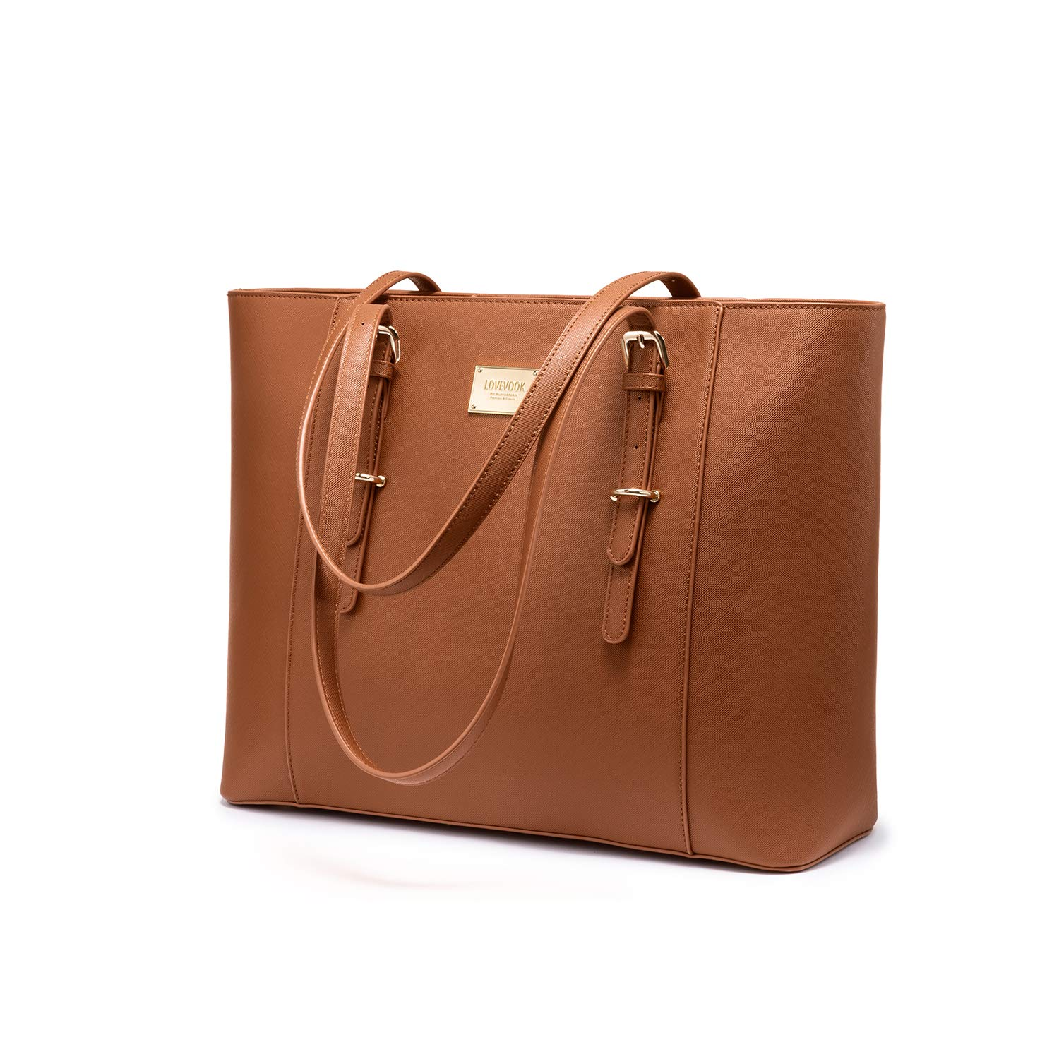 8b934f33937b Laptop Bag for Women Large Office Handbags Briefcase Fits Up to 15.6 inch  (Updated Version)-Brown