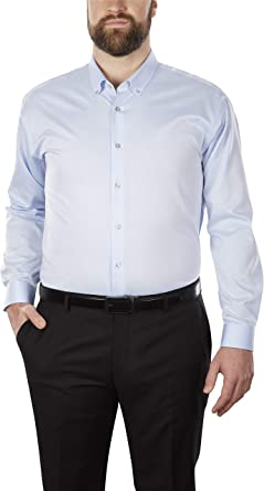 Calvin Klein Custom Men's Dress Shirt Non Iron Solid (Available in Regular,  Slim, Extra Slim, and Big and Tall Fits) at Amazon Men's Clothing store