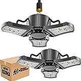 bulbeats Motion Activated LED Garage Light Bulb with 3 Adjustable Panel 60W (Eqv 200W) 6000LM 5000K Garage Ceiling Led…
