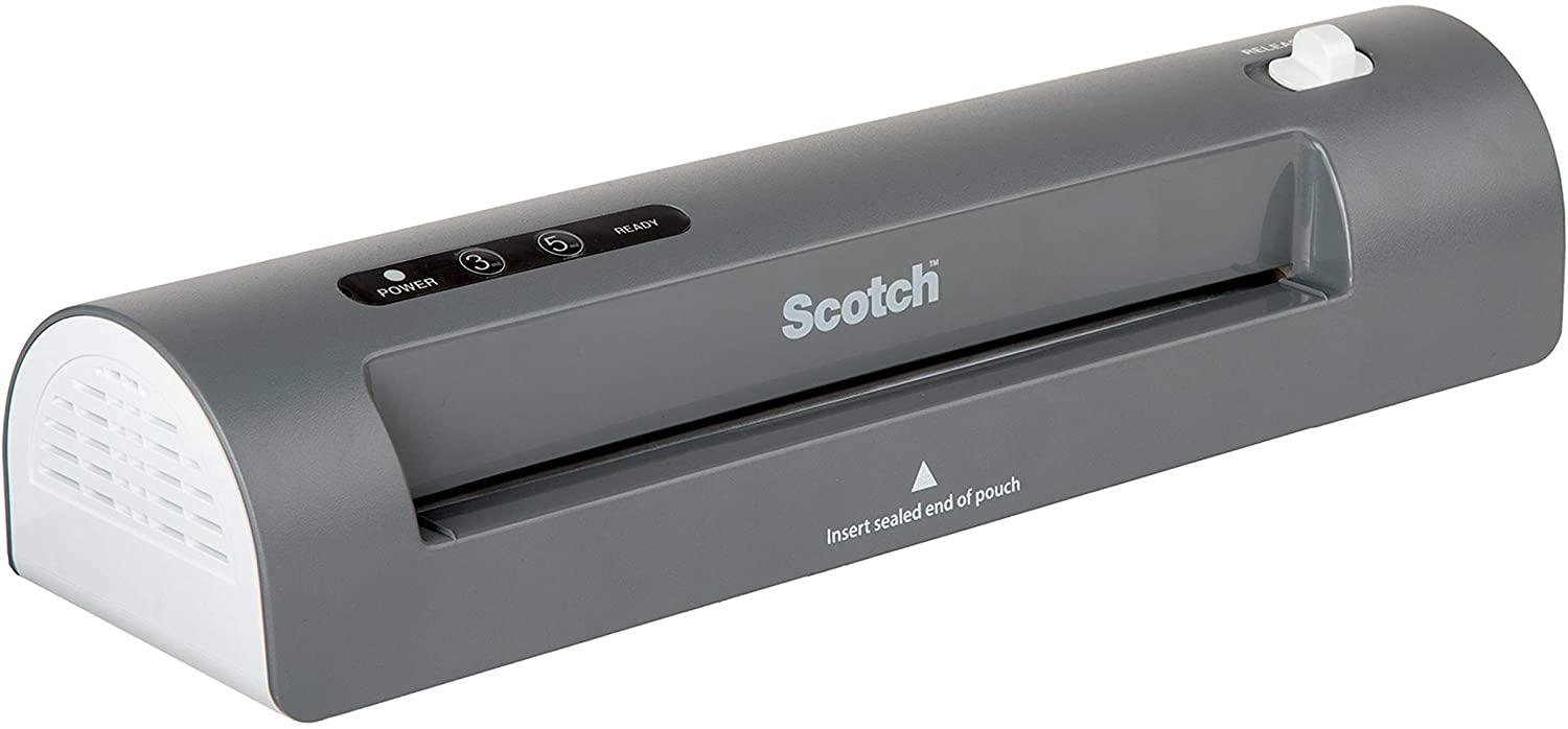 Scotch Thermal Laminator, 2 Roller System for a Professional Finish, Use for Home, Office or School, Suitable for use with Photos (TL901X) : Laminating Machines : Office Products