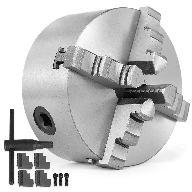 K12-125 SucceBuy Mandrin de Tour /à M/étaux Professionnel Mandrin /à 4 Mors Taille 125mm pour Tour